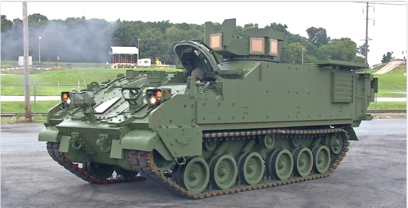The first Armored Multi-Purpose Vehicle (AMPV) has driven off the BAE Systems production line to be delivered to the U.S. Army. The AMPV is central to the Army's modernization objectives and comes in five variants. (BAE screen grab)