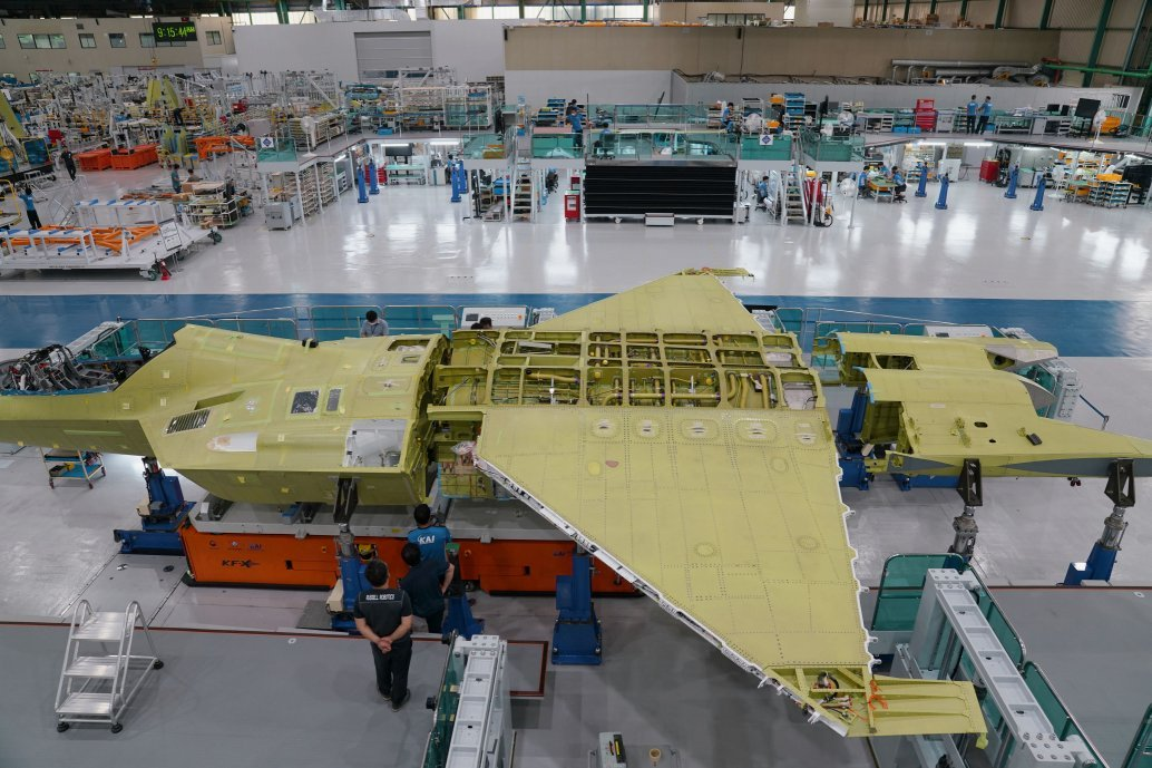 KAI has begun final assembly of the first KF-X prototype, which is expected to be rolled out in the first half 2021. (DAPA)