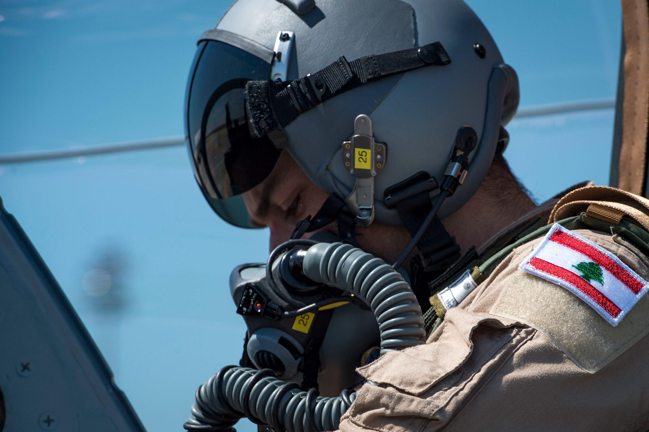 A Lebanese A-29 Super Tucano student pilot