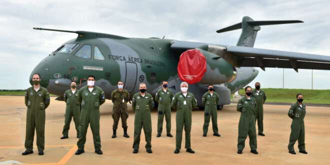 Although referred to as C-390s by the Brazilian Air Force, all 28 aircraft on order are tanker-capable and are, in fact, KC-390s. (Embraer photo)
