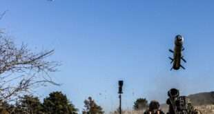 Drone guiding fire of MMP missile