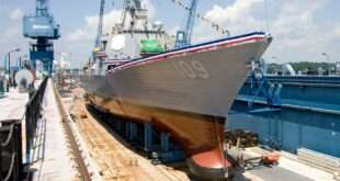 The Naval Programs group within Aerostructures at Collins Aerospace has supplied more than 25 composite keel domes and 360 rubber bow windows for U.S. Navy surface ships.
