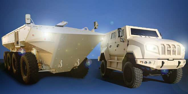 Iveco is displaying the new SUPERAV-Land 8x8 and the 4x4 MTV at IDEX 2021 [©Iveco Defence Vehicles]