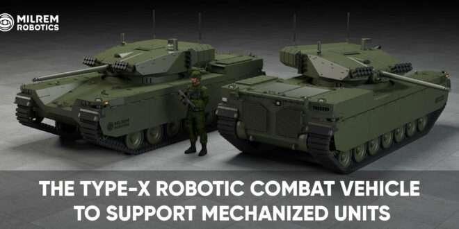 Milrem Robotics' Type-X Robotic Combat Vehicle