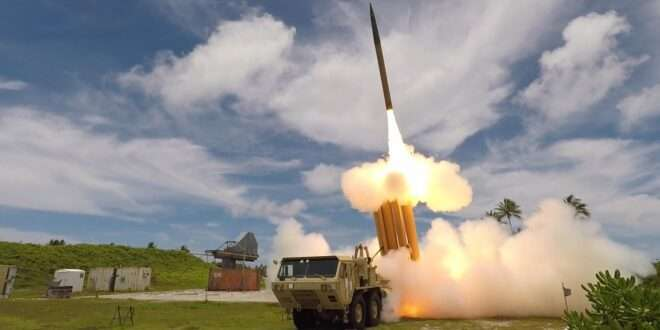 A THAAD interceptor is launched during a Flight Test in 2019. Photo courtesy of the U.S. Missile Defense Agency.