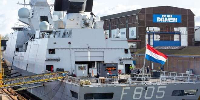 Damen Shiprepair Amsterdam readies HNLMS Evertsen for voyage to Japan