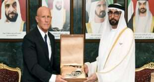 UAE's Minister of Defense Receives Lockheed Martin's ME Chief Executive