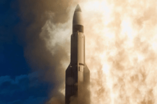 A Raytheon Standard Missile (SM-3) launches from a U.S. Navy ship. (Image Credit: Raytheon)